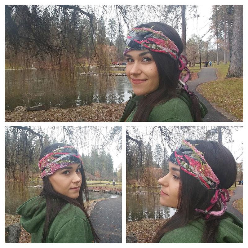 Model wearing the Bohemian Headband