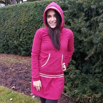 Red kuspuk at Nayeli Clothing